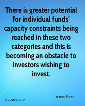 There is greater potential for individual funds' capacity constraints being reached in these two categories and this is becoming an obstacle to investors wishing to invest.