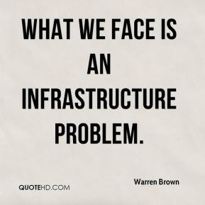 What we face is an infrastructure problem.