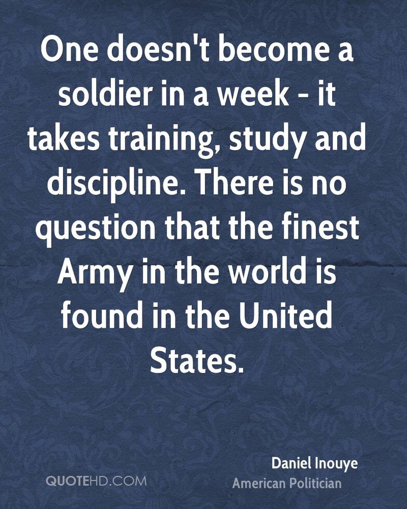 Discipline in the army