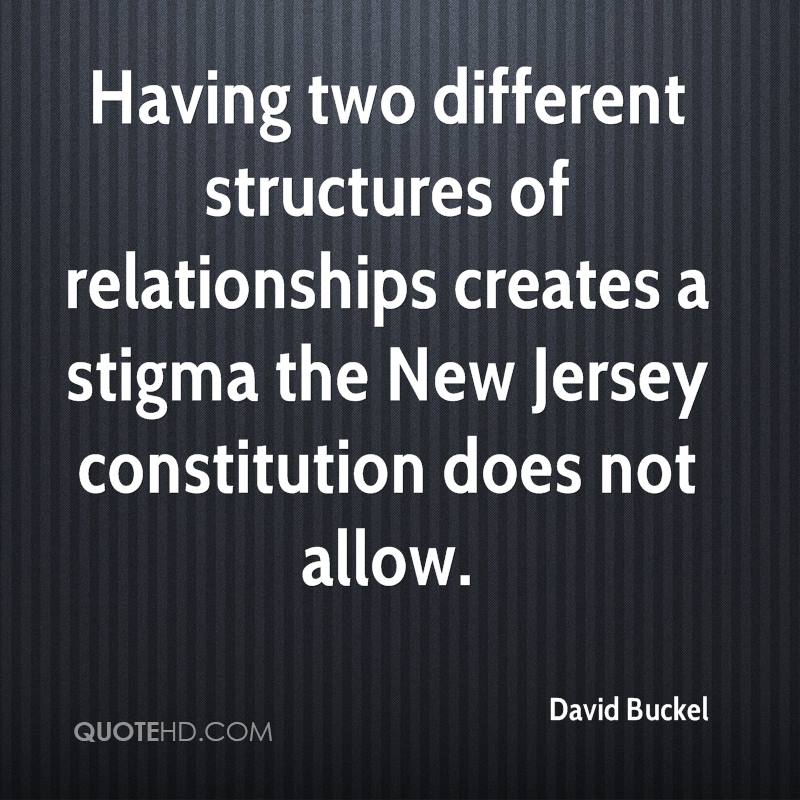 Having two different structures of relationships creates a stigma the New Jersey constitution does not allow.