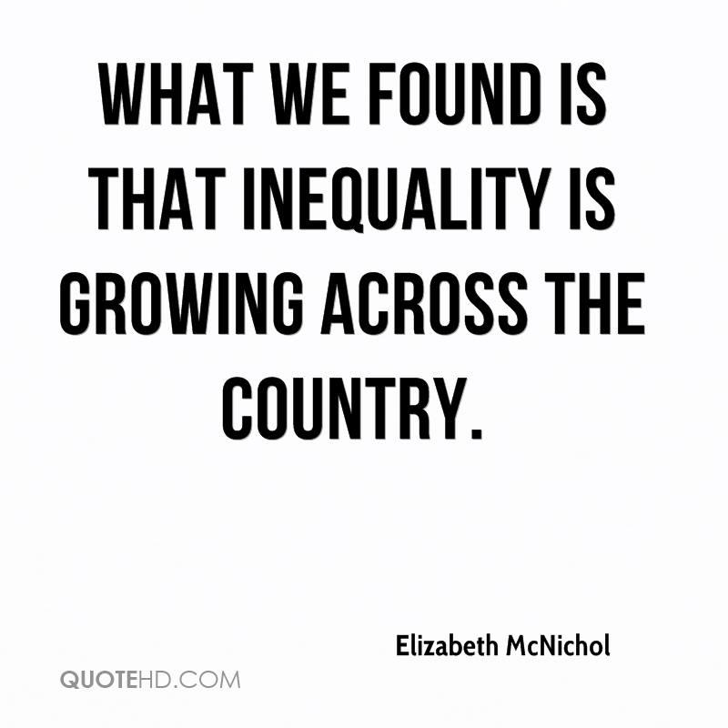 What we found is that inequality is growing across the country.