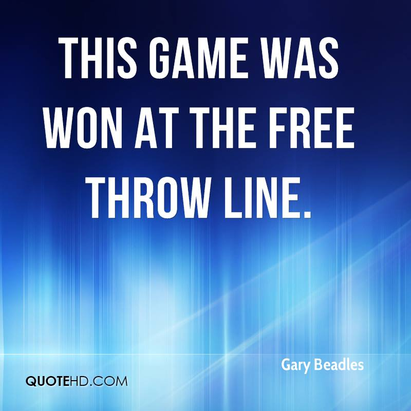 This game was won at the free throw line.