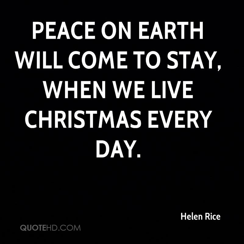 Peace Christmas Quotes.Helen Rice Christmas Quotes Quotehd