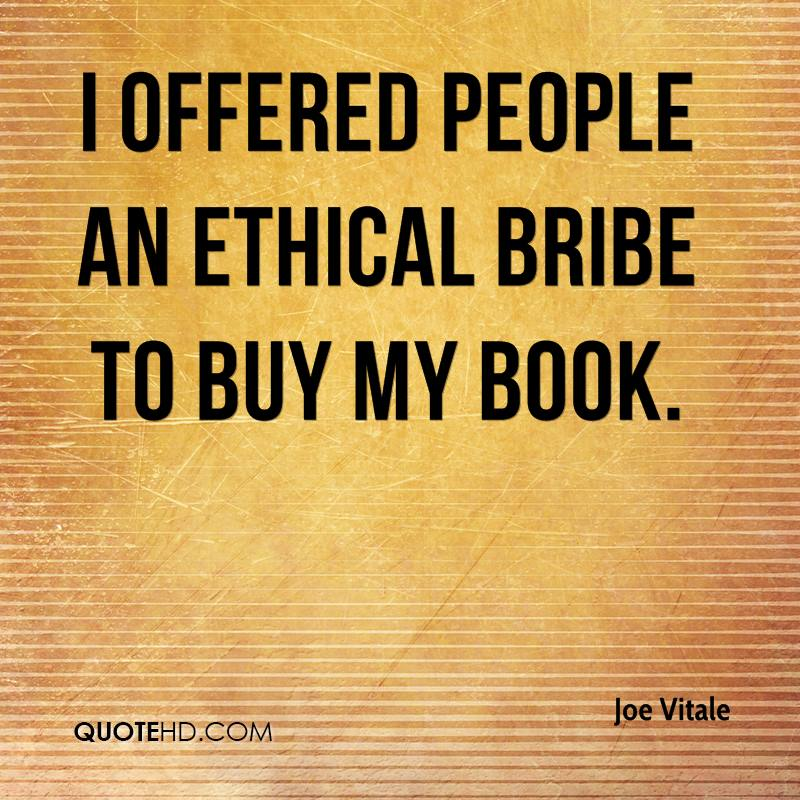 I offered people an ethical bribe to buy my book.