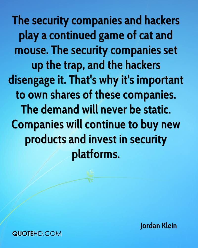 Quotes About Security Jordan Klein Quotes  Quotehd
