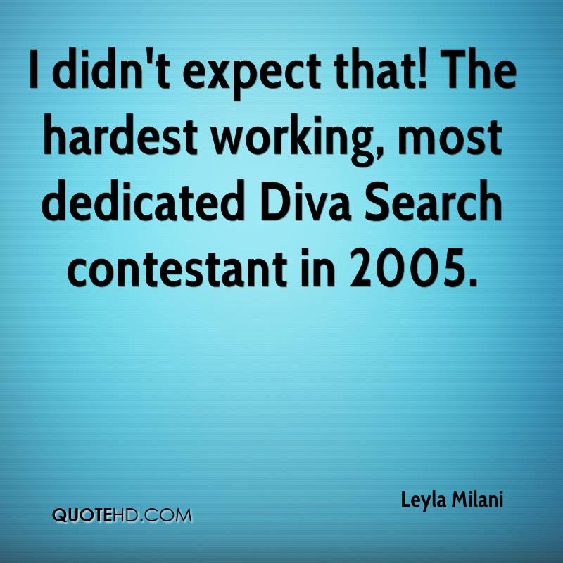 I didn't expect that! The hardest working, most dedicated Diva Search contestant in 2005.