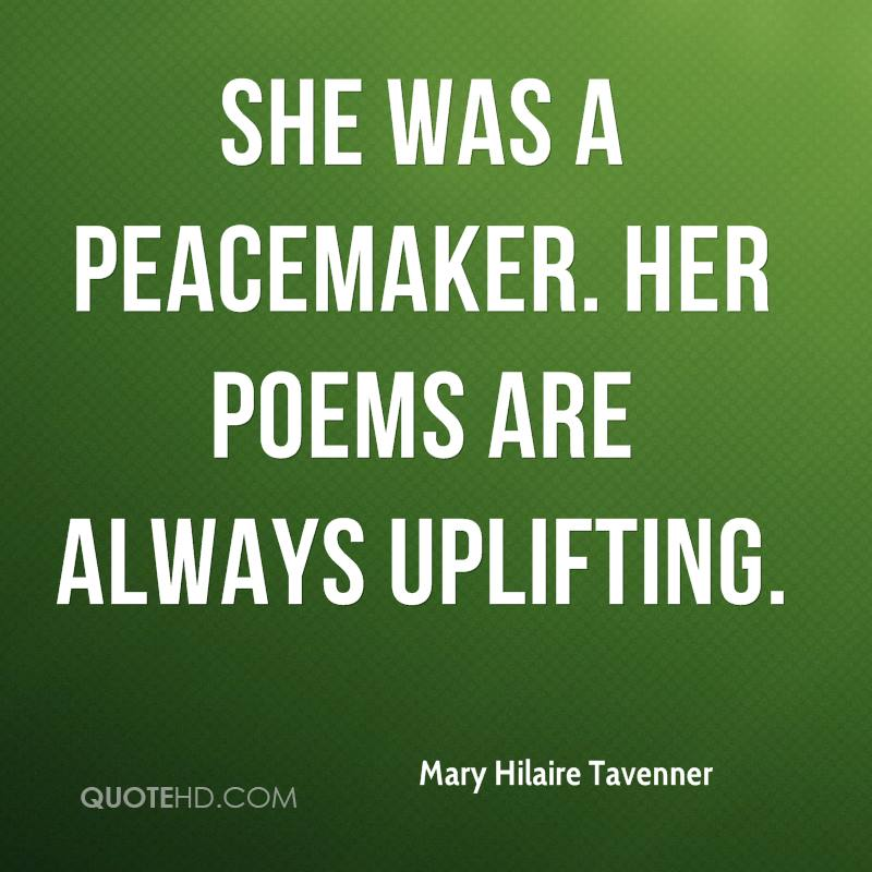 Peacemaker Quotes Delectable Mary Hilaire Tavenner Quotes  Quotehd