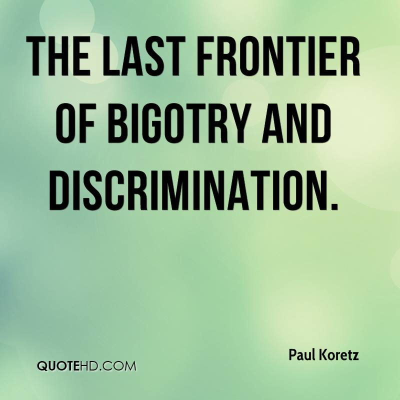 discrimination and bigotry in schools This activity inspires students to think about their own areas of bigotry activities bias bigotry discrimination equality human rights humane education justice.