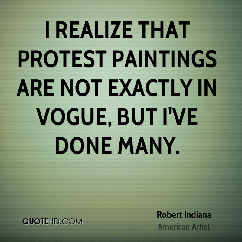 I realize that protest paintings are not exactly in vogue, but I've done many.