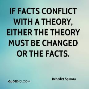 If facts conflict with a theory, either the theory must be changed or the facts.