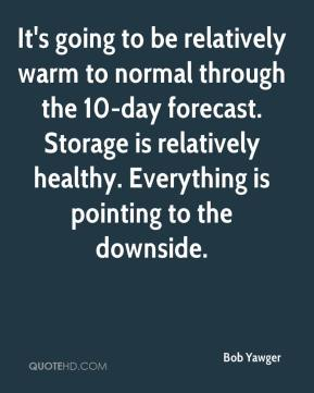 Bob Yawger - It's going to be relatively warm to normal through the 10-day forecast. Storage is relatively healthy. Everything is pointing to the downside.