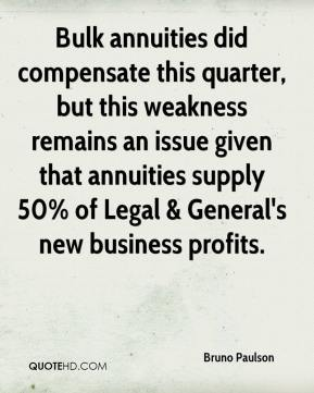 Bulk annuities did compensate this quarter, but this weakness remains an issue given that annuities supply 50% of Legal & General's new business profits.