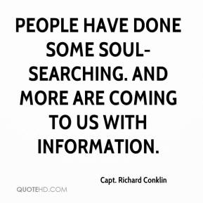 People have done some soul-searching. And more are coming to us with information.