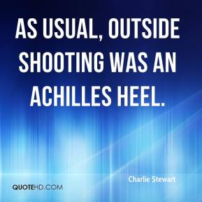 Charlie Stewart - As usual, outside shooting was an Achilles heel.