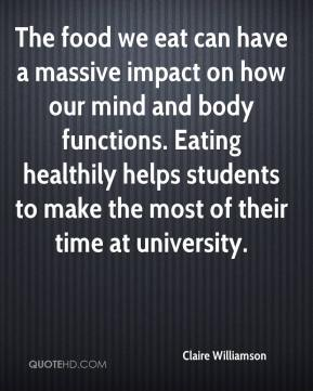 The food we eat can have a massive impact on how our mind and body functions. Eating healthily helps students to make the most of their time at university.