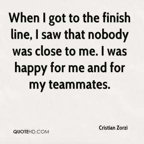 Cristian Zorzi - When I got to the finish line, I saw that nobody was close to me. I was happy for me and for my teammates.