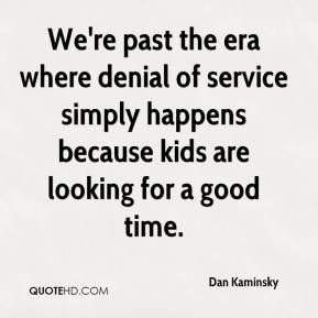 We're past the era where denial of service simply happens because kids are looking for a good time.