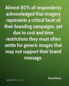 David Norris - Almost 80% of respondents acknowledged that imagery represents a critical facet of their branding campaigns, yet due to cost and time restrictions they must often settle for generic images that may not support their brand message.
