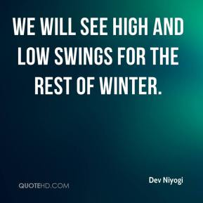 We will see high and low swings for the rest of winter.