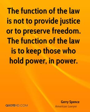 the function of law