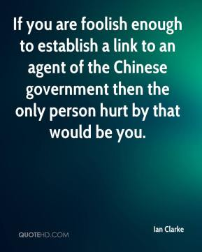 If you are foolish enough to establish a link to an agent of the Chinese government then the only person hurt by that would be you.