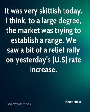 James Niosi - It was very skittish today. I think, to a large degree, the market was trying to establish a range. We saw a bit of a relief rally on yesterday's (U.S) rate increase.