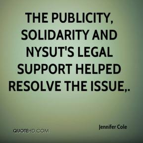 Jennifer Cole  - The publicity, solidarity and NYSUT's legal support helped resolve the issue.