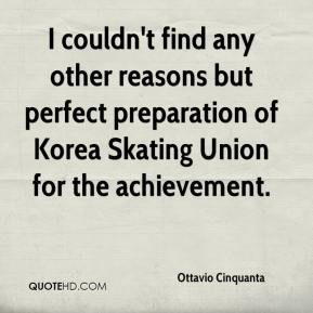 Ottavio Cinquanta  - I couldn't find any other reasons but perfect preparation of Korea Skating Union for the achievement.