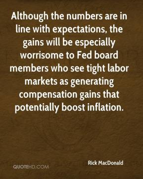 Although the numbers are in line with expectations, the gains will be especially worrisome to Fed board members who see tight labor markets as generating compensation gains that potentially boost inflation.