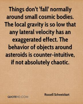 Things don't 'fall' normally around small cosmic bodies. The local gravity is so low that any lateral velocity has an exaggerated effect. The behavior of objects around asteroids is counter-intuitive, if not absolutely chaotic.