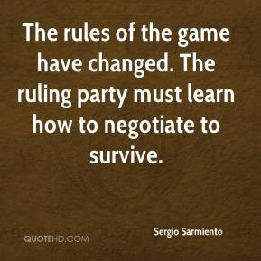 Sergio Sarmiento  - The rules of the game have changed. The ruling party must learn how to negotiate to survive.