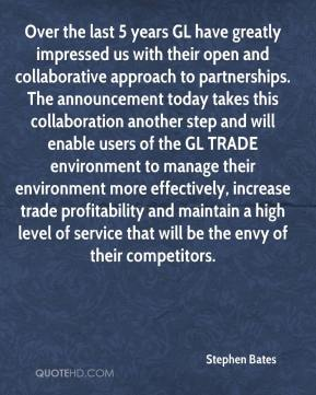 Over the last 5 years GL have greatly impressed us with their open and collaborative approach to partnerships. The announcement today takes this collaboration another step and will enable users of the GL TRADE environment to manage their environment more effectively, increase trade profitability and maintain a high level of service that will be the envy of their competitors.