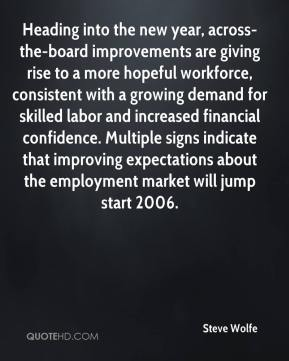 Steve Wolfe  - Heading into the new year, across-the-board improvements are giving rise to a more hopeful workforce, consistent with a growing demand for skilled labor and increased financial confidence. Multiple signs indicate that improving expectations about the employment market will jump start 2006.