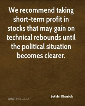 We recommend taking short-term profit in stocks that may gain on technical rebounds until the political situation becomes clearer.