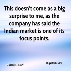 This doesn't come as a big surprise to me, as the company has said the Indian market is one of its focus points.