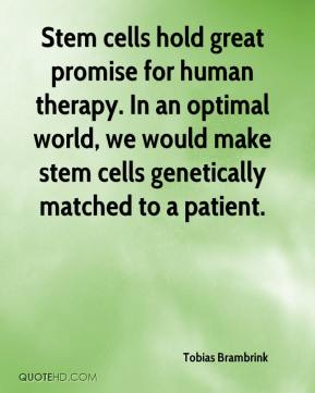 Stem cells hold great promise for human therapy. In an optimal world, we would make stem cells genetically matched to a patient.