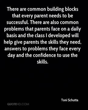 There are common building blocks that every parent needs to be successful. There are also common problems that parents face on a daily basis and the class I developed will help give parents the skills they need, answers to problems they face every day and the confidence to use the skills.
