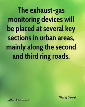 Wang Dawei  - The exhaust-gas monitoring devices will be placed at several key sections in urban areas, mainly along the second and third ring roads.