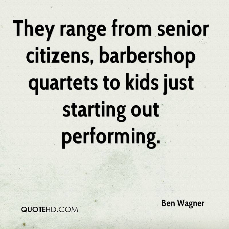 They range from senior citizens, barbershop quartets to kids just starting out performing.