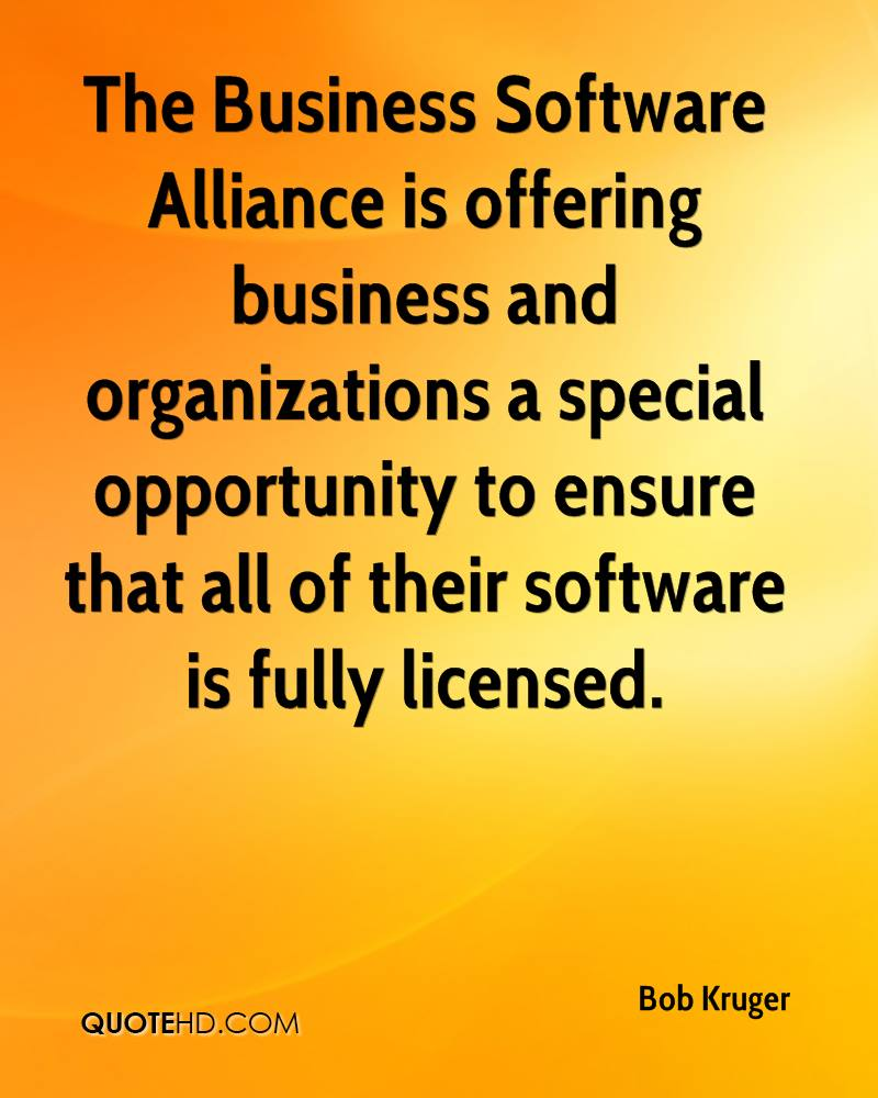 The Business Software Alliance is offering business and organizations a special opportunity to ensure that all of their software is fully licensed.
