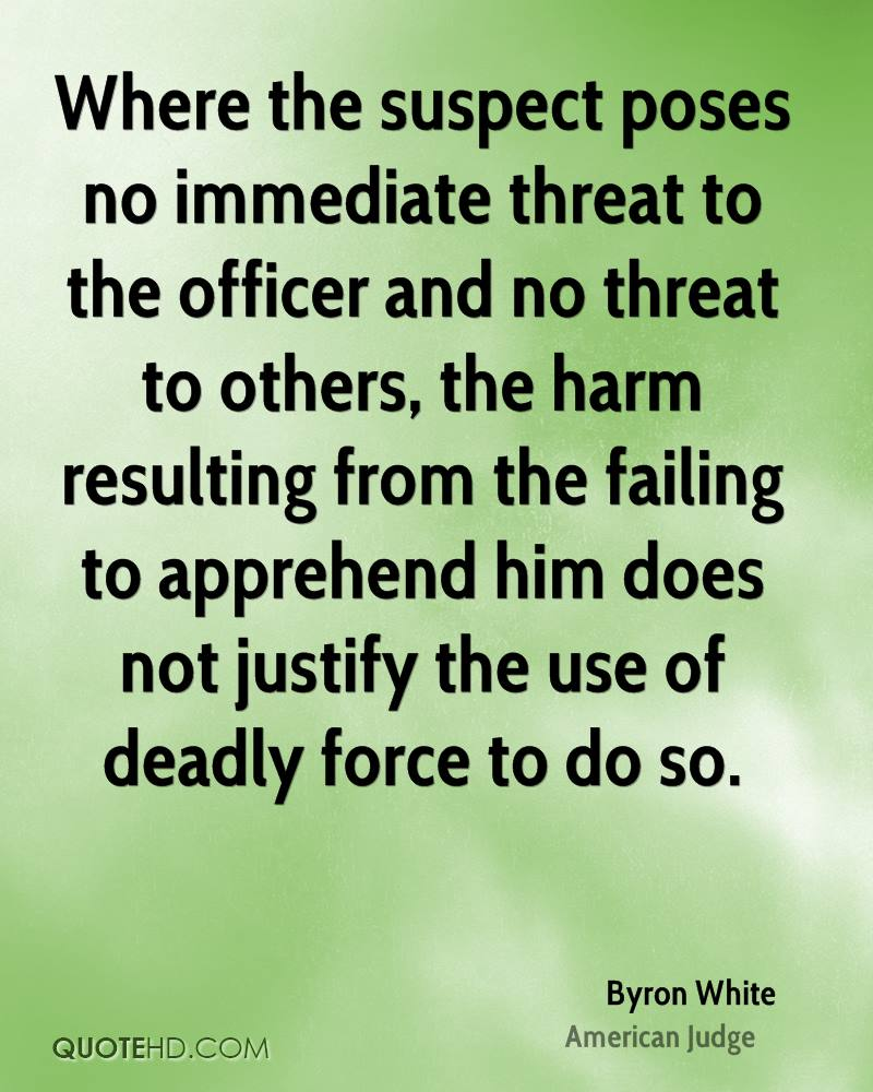 Where the suspect poses no immediate threat to the officer and no threat to others, the harm resulting from the failing to apprehend him does not justify the use of deadly force to do so.