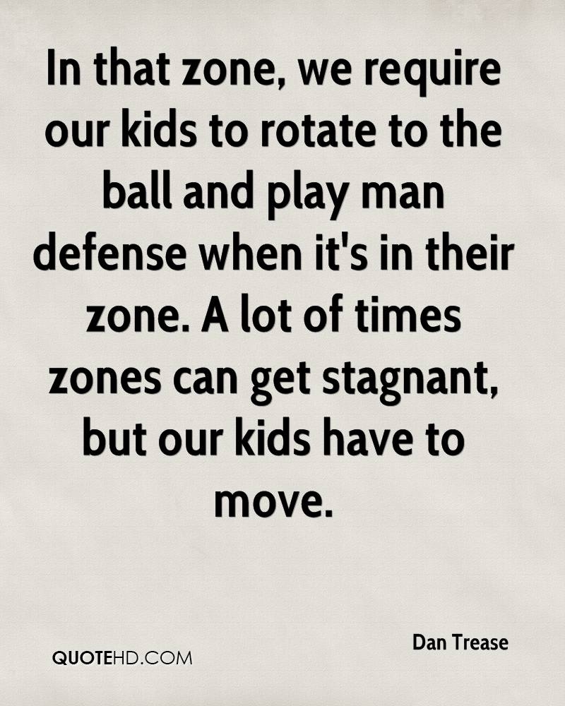 In that zone, we require our kids to rotate to the ball and play man defense when it's in their zone. A lot of times zones can get stagnant, but our kids have to move.