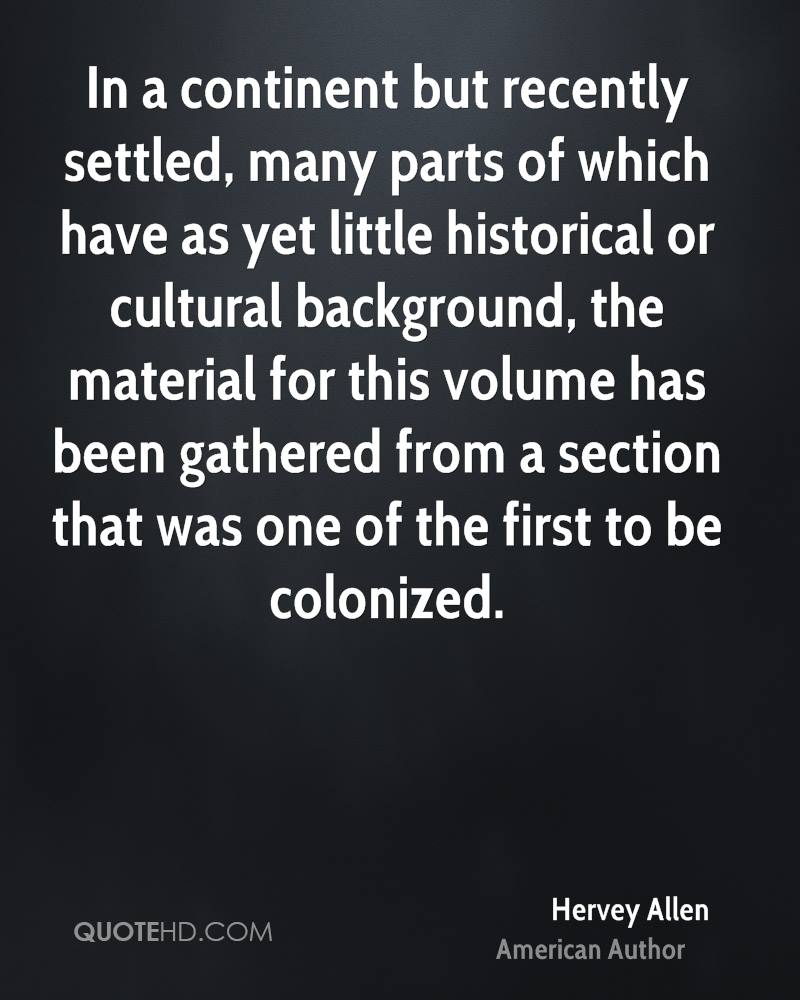 In a continent but recently settled, many parts of which have as yet little historical or cultural background, the material for this volume has been gathered from a section that was one of the first to be colonized.