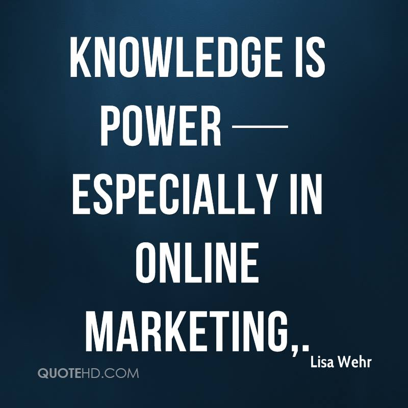 Lisa Wehr Quotes QuoteHD Fascinating Knowledge Is Power Quote