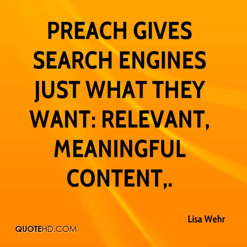 PReach gives search engines just what they want: relevant, meaningful content.