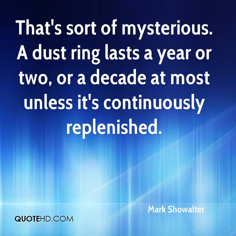 That's sort of mysterious. A dust ring lasts a year or two, or a decade at most unless it's continuously replenished.