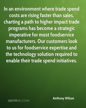 In an environment where trade spend costs are rising faster than sales, charting a path to higher impact trade programs has become a strategic imperative for most foodservice manufacturers. Our customers look to us for foodservice expertise and the technology solution required to enable their trade spend initiatives.