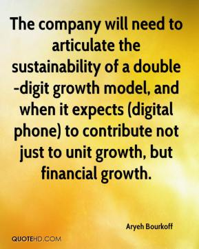 Aryeh Bourkoff - The company will need to articulate the sustainability of a double-digit growth model, and when it expects (digital phone) to contribute not just to unit growth, but financial growth.