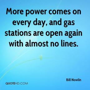 More power comes on every day, and gas stations are open again with almost no lines.