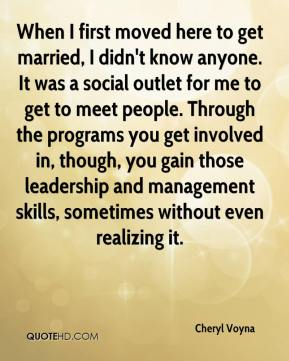 Cheryl Voyna - When I first moved here to get married, I didn't know anyone. It was a social outlet for me to get to meet people. Through the programs you get involved in, though, you gain those leadership and management skills, sometimes without even realizing it.